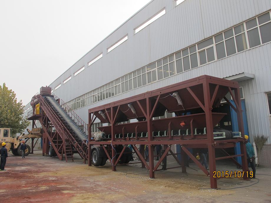 YHZS100移动式混凝土搅拌站